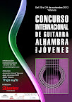 Cartel realizado para el Concurso Internacional de Guitarra Alhambra para Jóvenes