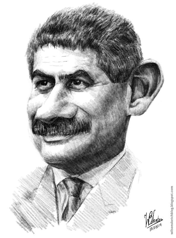 Caricature of Luís Filipe Vieira, using Krita.