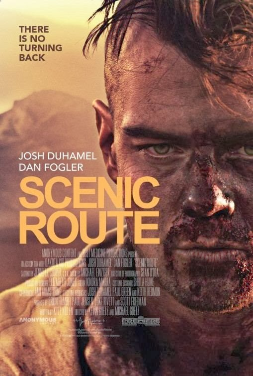 Poster Of English Movie Scenic Route (2013) Free Download Full New Hollywood Movie Watch Online At Alldownloads4u.Com