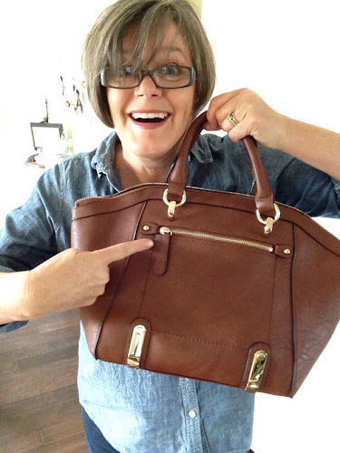 Fashion Friday, fashion for fifty somethings, a new purse, charming Charlie's