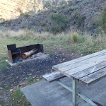 Picnic table and fire place