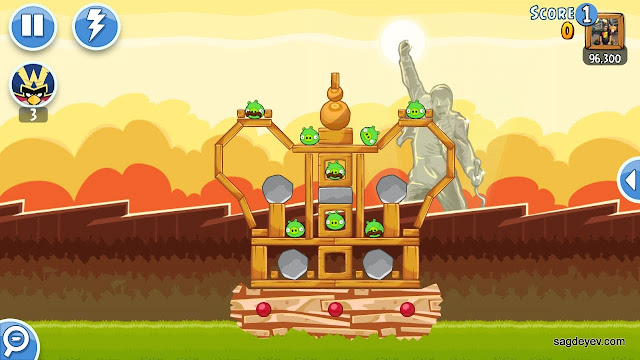 Angry Birds Friends: Freddie For A Day Level 2 - The Crown