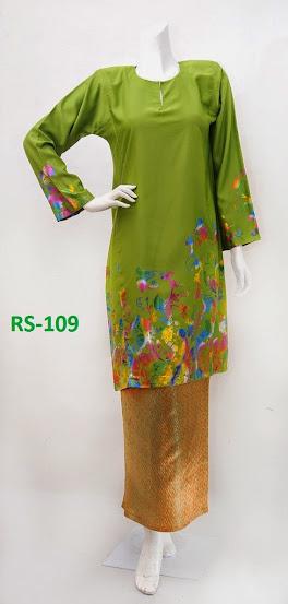 baju raya 2014 limited edition terkini hijau fesyen baju kurung murah online cantik kain songket