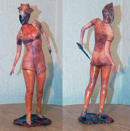 Silent Hill Homecoming Papercraft Nurse