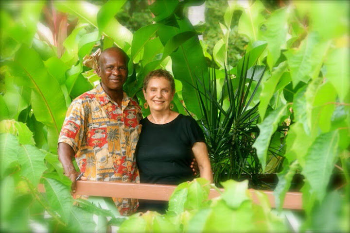 Bev and Oscar, Rosalie Bay Resort, Dominica