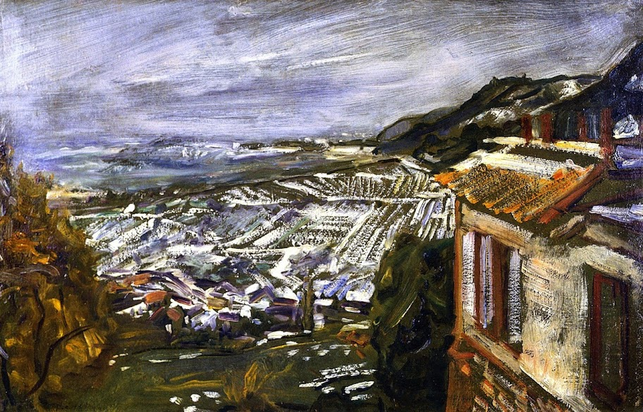 Max Slevogt - View from Naukastel, Late Autumn with Snow, 1923