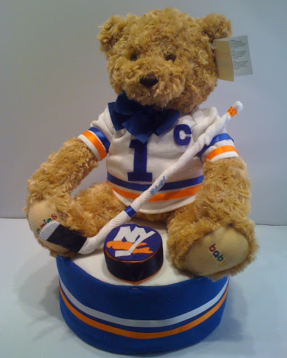 NY Islanders NHL - Hockey Diaper Cake