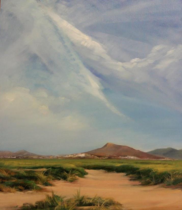 la montaña mágica, obra del pintor Ángel García Maciá