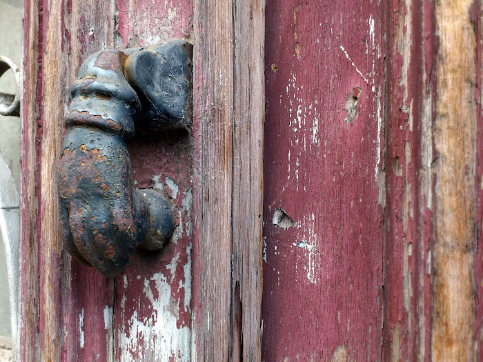 traditional door-post in an old house