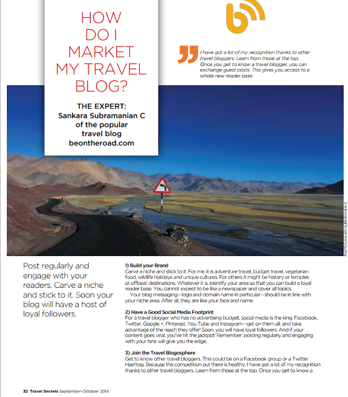 How do I market my Travel Blog - Travel Secrets Magazine Feature - Page 1