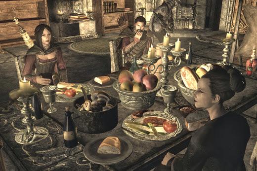マルカルスの廃屋で家族の団欒
