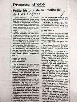 Louis-Geroges BOGRAND parle de la Trocyclette