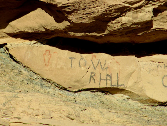 Fremont pictographs and historic graffiti