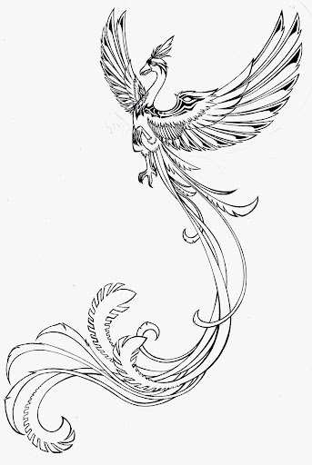 pheonix tattoos designs