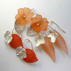 3 pairs of earrings in Garden Delight style