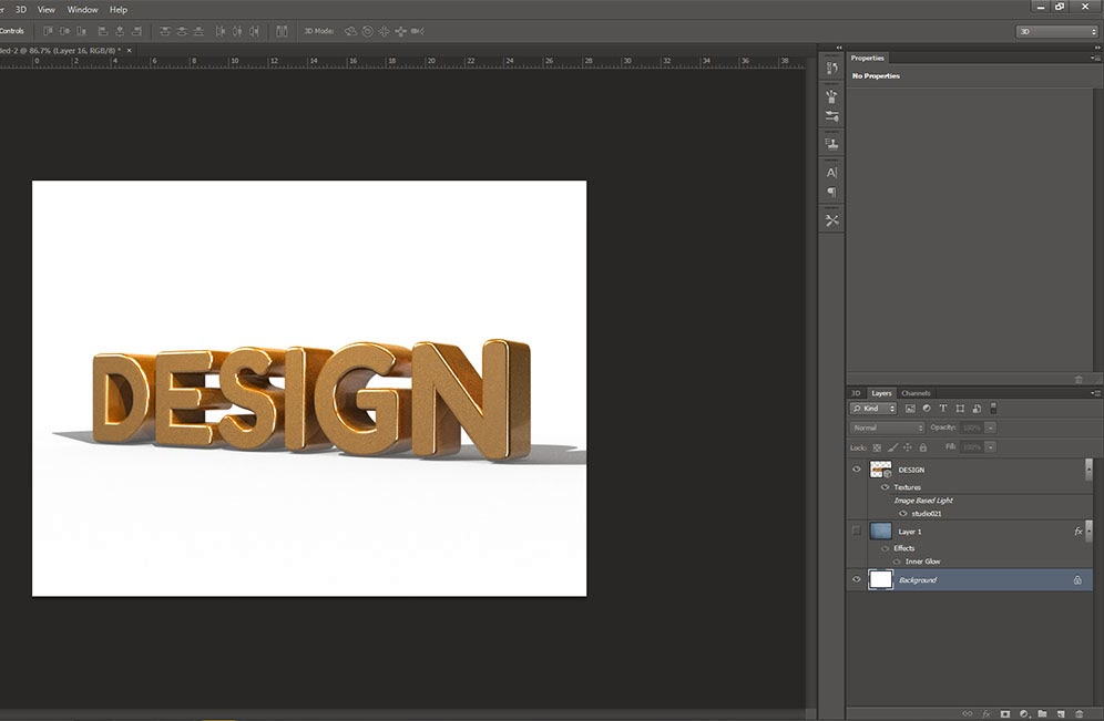 how to make cool 3d text in photoshop