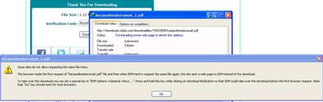 Cara Mengatasi Tidak Bisa men-Download dari Ziddu Via IDM 01
