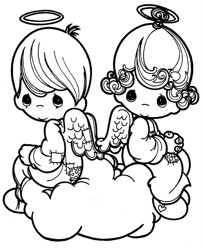 precious moments valentine coloring pages - photo#2