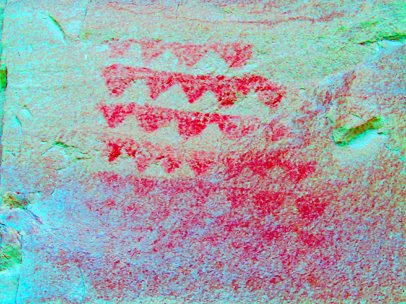 Faded pictographs enhanced with DStretch
