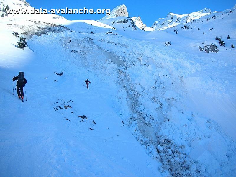 Avalanche Aravis, secteur L'Etale, Nant de la Blonnière - Photo 1