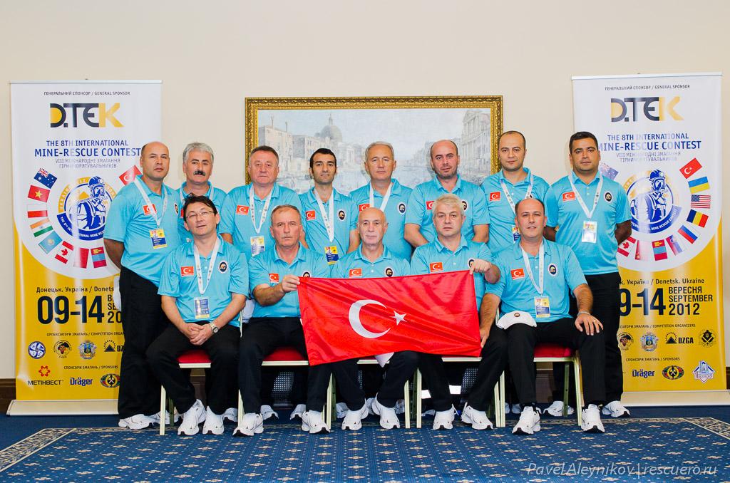 Команда горноспасателей из Турции
