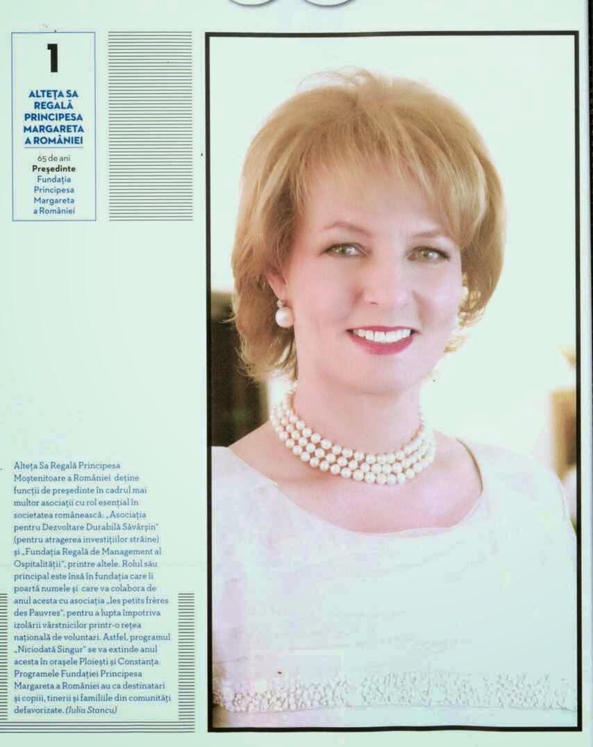 Principesa Margareta, primul loc în topul Forbes 2014