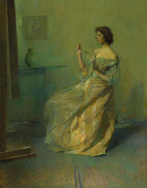 Thomas Dewing - The Necklace