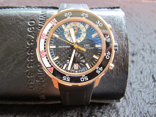 Bán đồng hồ Iwc Aquatimer Chronograph – 6 kim – vàng hồng – dây cao su – size 44mm