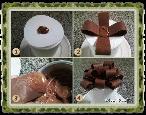 Panetone com laço de chocolate