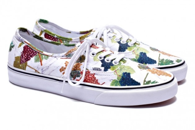 57fcae345 Kenzo and Vans Authentics features their multi-color 'grape' print.  Available in black or white. This will be part of their Fall/Winter 2012  collection.