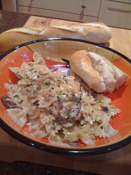 ... creamy wild mushroom sauce farfalle with creamy wild mushroom sauce