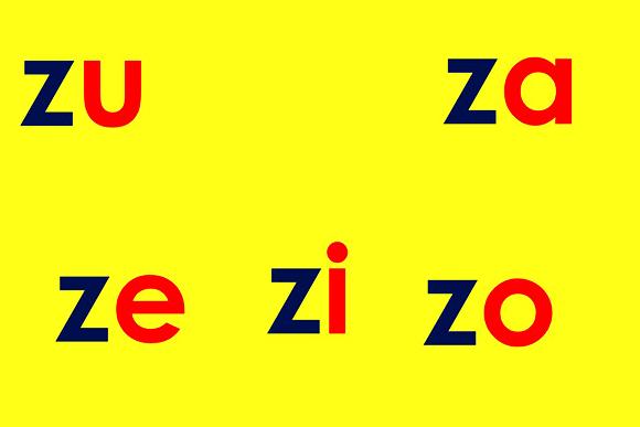 Zaza, Zeze, Zizi, Zozo e ...
