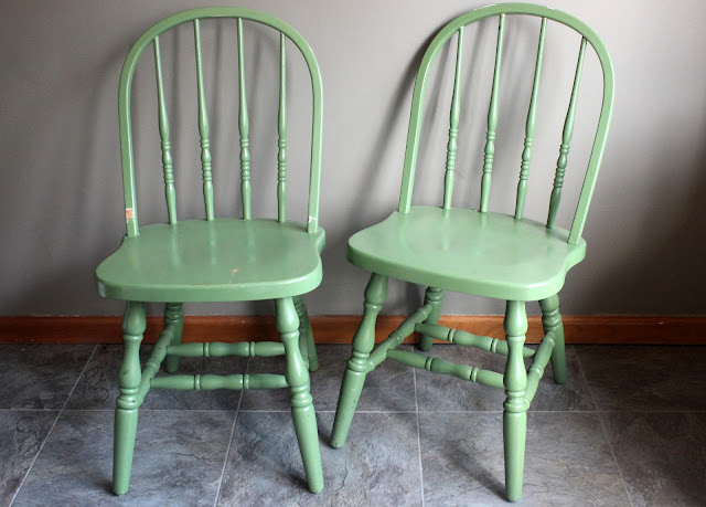 Green chairs from the rental inventory of www.momentarilyyours.com, $10.00 each.