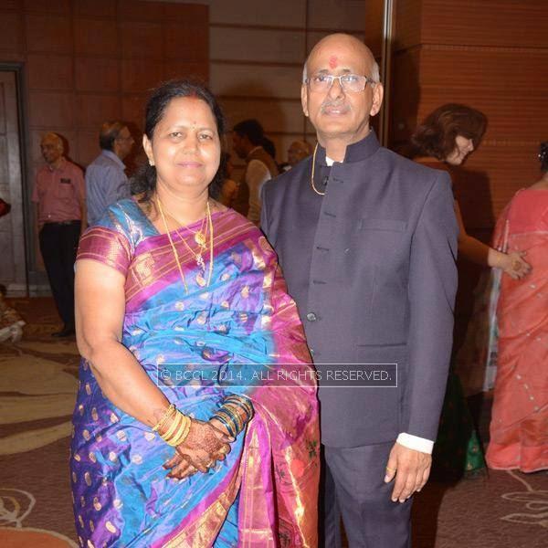 Shyamala and Vinod Jaiswal at Abhinav-Ritu Jaiswal's wedding, held in Nagpur.