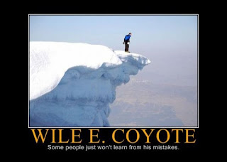motivational wile e coyote some people just won t learn from his mistakes, funny motivational pictures, motivational pictures, motivational wile e coyote, motivational coyote, motivational, wile e coyote, some people just won t learn, mistakes motivational