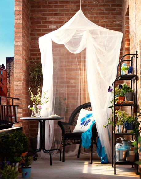 Inspiración para decoración de balcones.