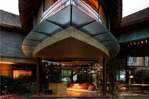 Leaf House 11 5 750x500 Kiến trúc nhà lá thú vị tại Brazil