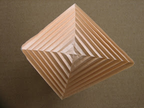 """Hyperbolic Parabola from Paul Jackson's """"Step by Step Origami"""": http://www.math.lsu.edu/~verrill/origami/parabola/"""