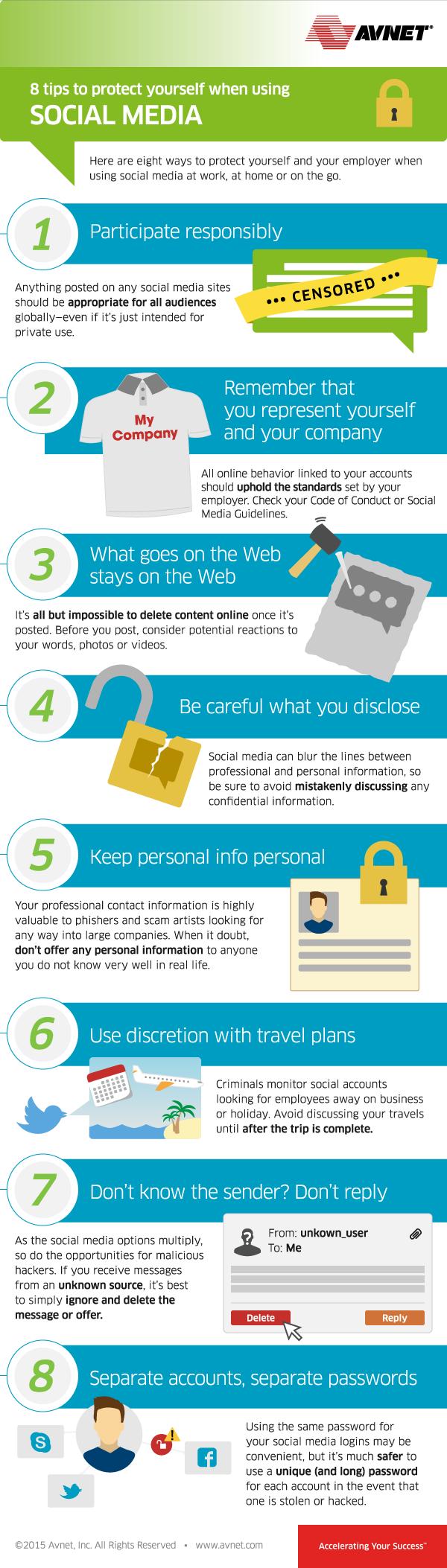 8 consejos para protegerte cuando usas los medios sociales