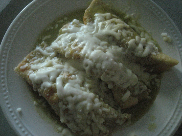 making chicken enchiladas