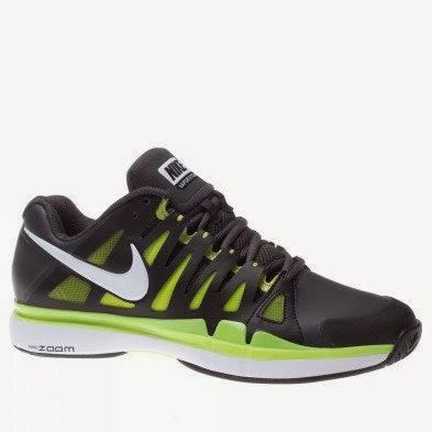 ece667b3b0450 Nike Mens Vapor 9 Tour SL Tennis Shoe Grey Yellow Size 11