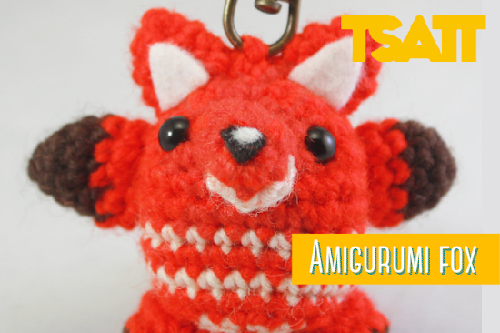 Amigurumi fox keychain crochet pattern by The Sun and the Turtle. This little Amigurumi Fox is chubby and veery happy! Size about 2 inches and can be completed in a day.