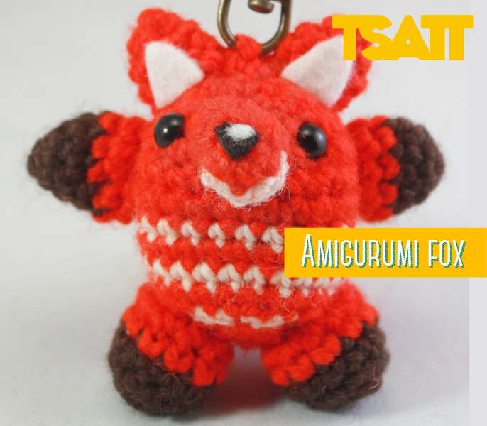 Fox Key chain Amigurumi pattern!