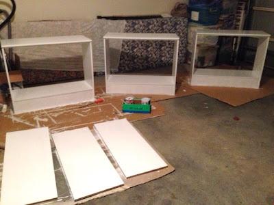 paint laminate shelves