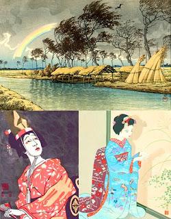 Гравюры современных японских художников