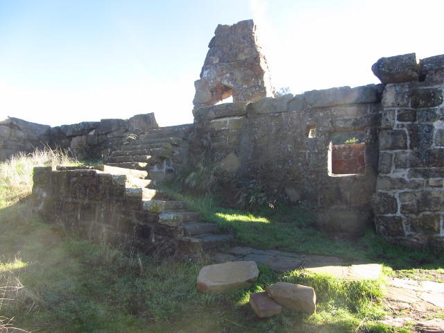 ruins from the north side