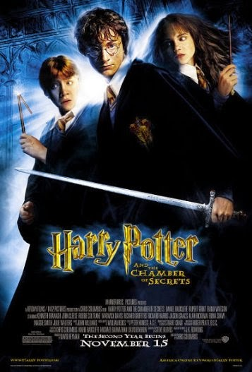 Poster Of English Movie Harry Potter and the Chamber of Secrets (2002) Free Download Full New Hollywood Movie Watch Online At Alldownloads4u.Com