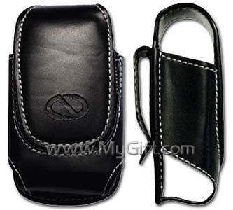 Motorola EM330 Black Pouch Leather Case with Belt Clip