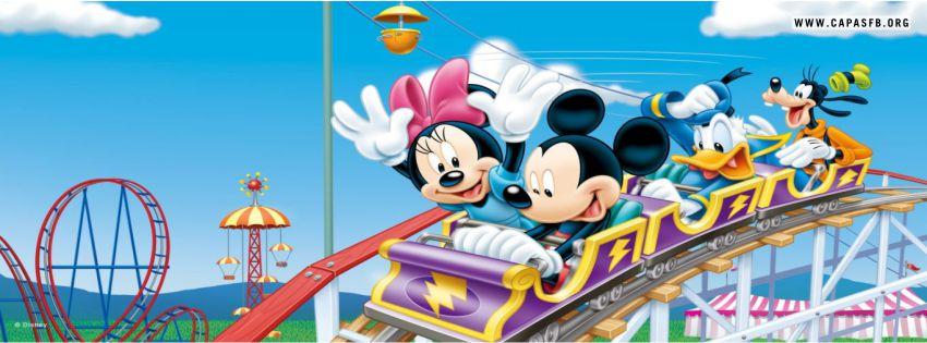 Capas para Facebook Mickey, Minnie, Donald e Pateta