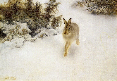 Bruno Liljefors - Winter Hare